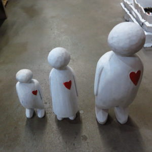 Hearted family set