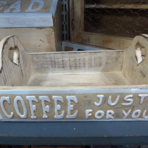 """Coffee just for you"" tray"