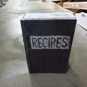 Recipe holder (book form)