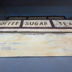"""Coffee Sugar Tea"" holder"