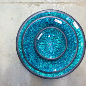 Beautiful mosaic set of 3