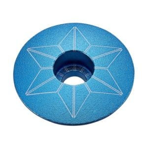 SUPACAZ Star Caps – Aqua (anodized)