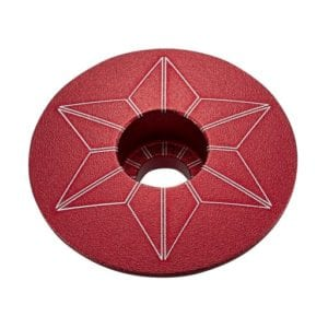 SUPACAZ Star Caps – Red (anodized)