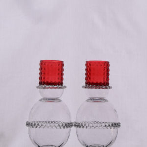 Red Top Candle Holder (Set)