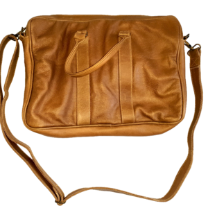 Leather office/laptop bag (Soft brown)