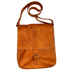 Unisex leather bag (Light brown)