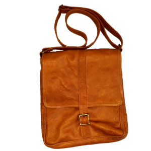 Unisex leather bag (Soft brown)