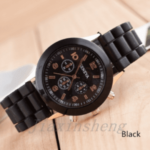 Black Watch with Silicone Band / Strap