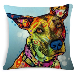 Pillow Case – Colourful Dog
