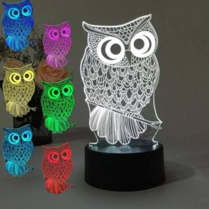 3D Colour Changing LED Night Light – Owl
