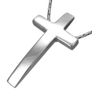 Stainless Steel Engravable Cross Invisible Bail Pendant