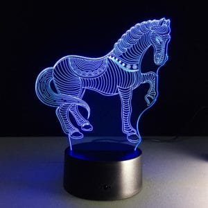 3D Colour Changing LED Night Light – Horse