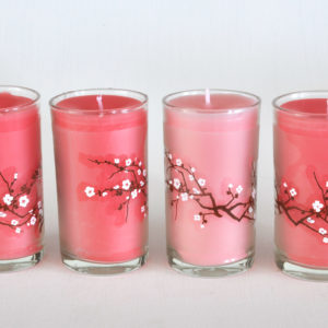 Set of 4 container candles
