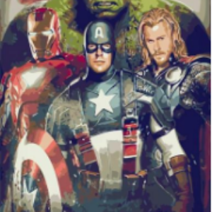 AVENGERS PAINT BY NUMBERS