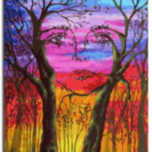 FACE IN TREES PAINT BY NUMBERS