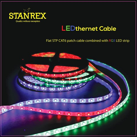 STP Cat6 Cable Specifications: Flat, cat6 STP cable 4P*32 AWG 7/0.08BC + 15OD PVC Jacket OD: 2.4*7.4mm