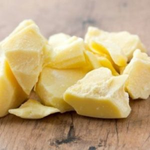 Cocoa Butter 1kg. Raw, certified food & cosmetic grade.