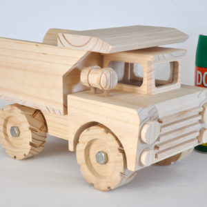 Wooden construction lorry