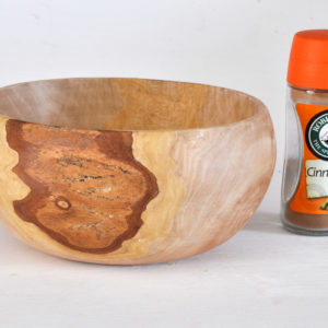 Wooden snack bowl