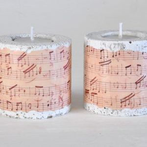 Cement tea light candle holders